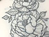 Drawing Traditional Flowers A Tattoo Pinte