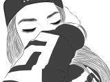 Drawing Tumblr Girl Swag Gambar Outline Girl and Tumblr Wallpaper Drawings Tumblr