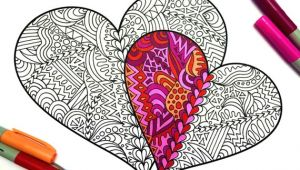 Drawing Two Heart Two Hearts Pdf Zentangle Coloring Page In 2019 Products