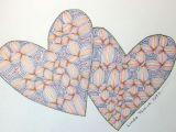 Drawing Two Heart Zentangle Two Hearts Zentangles Color Pinterest Heart