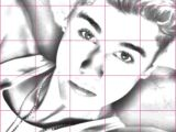 Drawing Using A Grid Drawing Justin Bieber Using A Grid Things to Draw In 2019