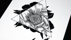 Drawing Using Things Art Drawing Flowers Hipster Sketch Triangle Amazing