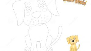Drawing Vector Cartoons Drawing and Coloring Cute Cartoon Dog Puppy Labrador Educationa