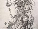 Drawing Vs Painting Predator Commission 2 by Rogercruz Comic Art Predator Art