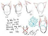 Drawing Wolves Tutorial Cat Ears Neko Text How to Draw Manga Anime How to Draw Manga