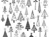 Drawing X Mas Tree Christmas Tree White Spruce Fir Fir Tree Simple Drawing Set Draw