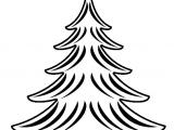 Drawing X Mas Tree Clip Art Black and White Net A Clip Art A Xmas Christmas Tree 22