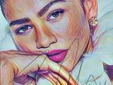 Drawing Zendaya 1318 Best Drawings Images In 2019