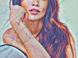 Drawing Zendaya Camila Cabello Coloured Drawing Hand Drawn Print Cabello1 Colored