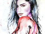 Drawing Zendaya Zendaya by Gus Romano Watercolor Painting Scribble Doodle Sketch