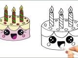 Drawings Easy Cake Birthday Cakes Candles Lovely Birthday Cake Drawing Beautiful Hands