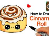 Drawings Easy Cake How to Draw A Cinnamon Roll Cute and Easy Kids Fun Stuff In 2019