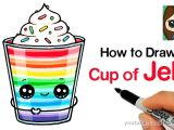 Drawings Easy Cake How to Draw A Cup Of Jello Easy Youtube Harleys In 2019 Cute