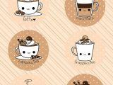 Drawings Easy Coffee Coffee Time Magnet Set Easy Kawaii Drawing Cafe Dibujos Kawaii
