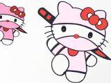 Drawings Easy Ninja How to Draw Hello Kitty Ninja Version Easy Step by Step Drawing