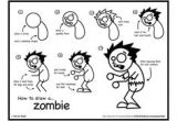 Drawings Easy to Copy Step by Step How to Draw A Zombie for Kids Step 8 Project Planning Pinterest