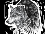 Drawings Of A Wolf Tattoo Ravenwolf Google Search Adelle Leclair Tattoos Raven Tattoo