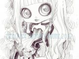 Drawings Of Big Eyes Blythe Drawing by Mercredy Lunaris Art Drawings Pencil