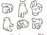 Drawings Of Cartoon Hands Cartoon Hands Making Different Gestures Vector Clip Art