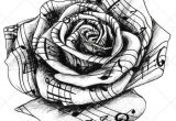 Drawings Of Detailed Roses This Highly Detailed Black and White Temporary Tattoo Rose Appears