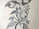 Drawings Of Dogwood Flowers Paper Ephemera Drawing Of Dogwood Flower by Dustydrawers On Etsy