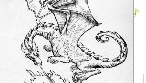 Drawings Of Dragons Breathing Fire Dragon Breathing Fire Stock Illustration Illustration Of