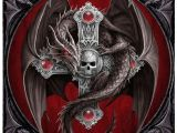 Drawings Of Dragons with Skulls Diamond Painting Dragon Girl Diamond Mosaic Skull Pinterest