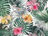 Drawings Of Exotic Flowers Tropical Leaves Flowers Pattern Tropicalpattern Exoticflowers