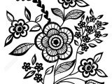 Drawings Of Flower Patterns Black and White Flowers and Leaves Design Element Mandalas Adult