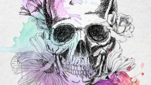 Drawings Of Flowers and Skulls Watercolour Flower Skulls Pinterest Tattoos Skull Tattoos and