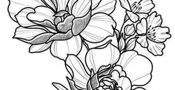 Drawings Of Flowers Pretty Floral Tattoo Design Drawing Beautifu Simple Flowers Body Art