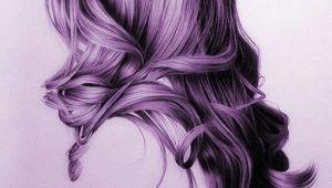 Drawings Of Girls Hair Purple Hair Girl Drawing Google Search Drawings Drawings