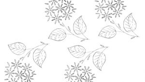 Drawings Of Little Flowers Free Embroidery Pattern A Bunch Of Little Flowers Needle Thread