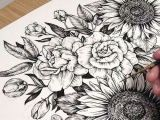 Drawings Of Peonies Flowers Peony Flower Tattoo Sunflower Tattoo Tattoo Drawing Tattoos