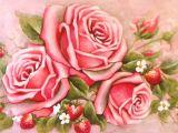 Drawings Of Pink Flowers Romantic Roses Pink Painting Floral Free Vintage Printables and