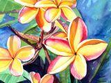 Drawings Of Plumeria Flower Plumeria Watercolor Tropical Flowers Frangipani Art Kauai Fine