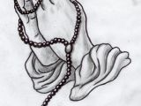 Drawings Of Praying Hands with Rosary Praying Hands Greywork by Lilmoongodess K1 Pinterest Tattoos