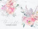 Drawings Of Purple Roses Une Fille Pink Purple Watercolor Flowers Line Botanical Elements