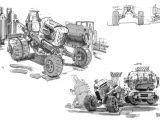 Drawings Of Robot Hands Artstation Off Roader Sketches Braydan Barrett Sketch
