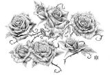 Drawings Of Roses On Vines Image Result for Vine and Thorns Drawings Deck Of Cards Tattoos