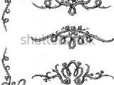Drawings Of Roses On Vines Vine Roses Set Of Thorny Rose Vines In Hand Drawn Sketch Set