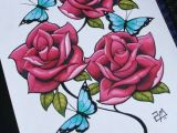 Drawings Of Roses with butterflies Roses and butterflies Tattoo Tattoo Flash Pinterest Drawings