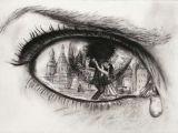 Drawings Of Sad Eyes Pin by Rachel Stevens On Red and Black Drawings Art Art Drawings
