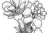 Drawings Of Single Roses Floral Tattoo Design Drawing Beautifu Simple Flowers Body Art