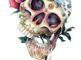 Drawings Of Sugar Skulls and Roses 113 Best Skulls Roses Images Skull Skulls Drawings