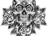 Drawings Of Sugar Skulls and Roses Skull and Roses Sketch Vector Tattoo Ideas Pinterest Sugar