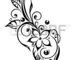 Drawings Of Tribal Flowers Black Flowers Illustration Tribal Tattoo Style Photo Tattoos