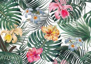 Drawings Of Tropical Flowers Tropical Leaves Flowers Pattern Tropicalpattern Exoticflowers
