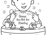 Drawings Of Washing Hands Free Printable Coloring Page to Teach Kids About Hygiene Germs are