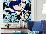 Drowning Girl Roy 2019 Roy Lichtenstein Pop Art Cartoon Oil Painting On Canvas